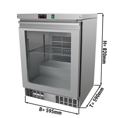 Freezer substructure 110 litres - with glass door