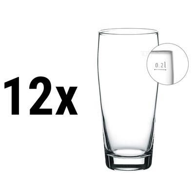 (12 Stück) Willibecher - 260 cc - geeicht bei 0,2 Liter