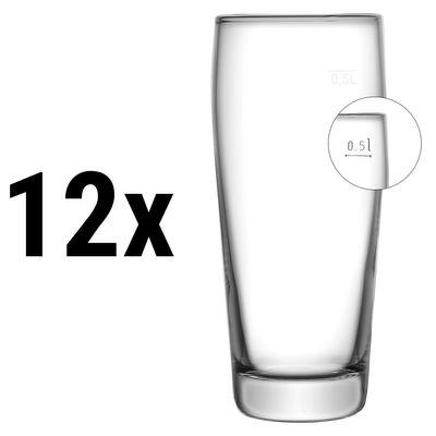 (12 Stück) Willibecher - 620 cc - geeicht bei 0,5 Liter