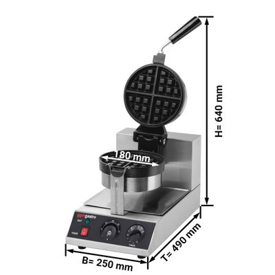 Waffle Iron - single - 180 ° rotation