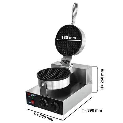 آلة إعداد الوافل أحادية - شكل دائري