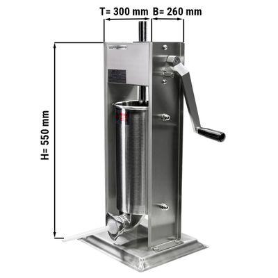 Manuelle Wurstfüllmaschine aus Edelstahl (Stehend)