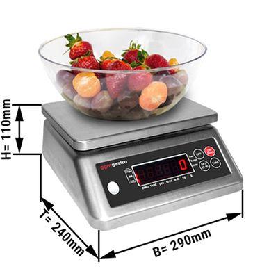 Digitale Küchenwaage bis 6 kg - Teilung: 2 Gramm