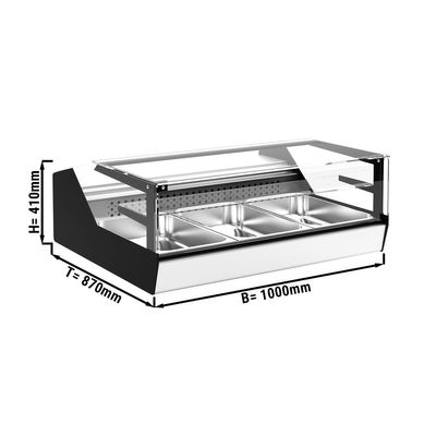 Warmhaltevitrine - 1,0 x 0,87 m
