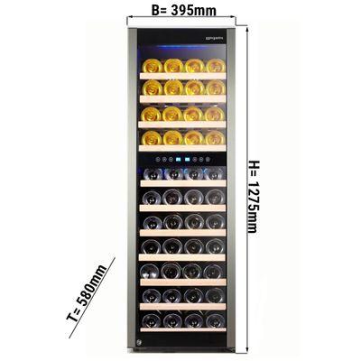 Weinkühlschrank - 160 Liter - mit 2 Klimazonen