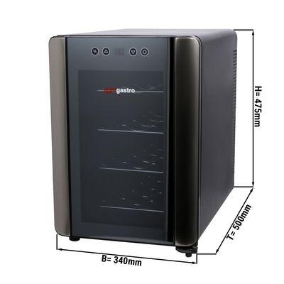 Mini Weinkühlschrank 33 Liter / mit 1 Klimazone