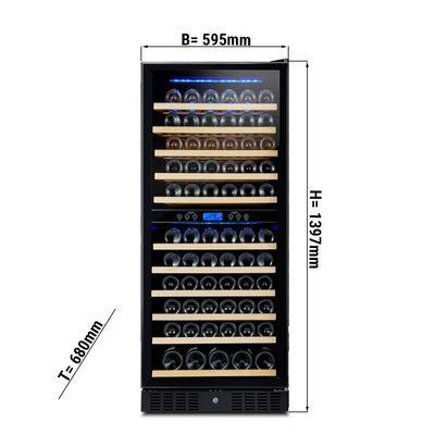 Weinkühlschrank - 350 Liter - mit 2 Klimazonen