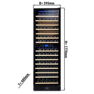 Weinkühlschrank - 421 Liter - mit 2 Klimazonen