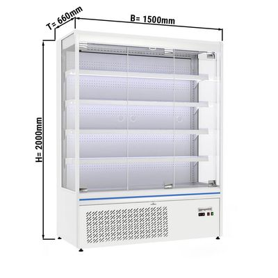 Wall cabinet 710 litres with 4 shelves