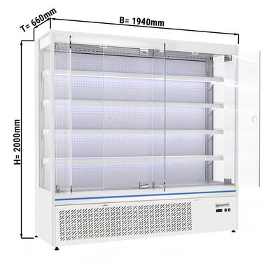 Wall cabinet 720 litres with 4 shelves