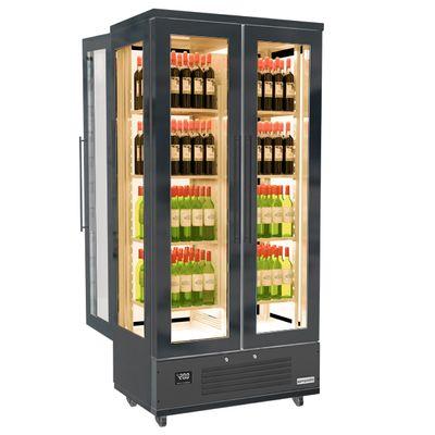 Wein-/ & Lagerkühlschrank - 1,0 x 0,61 - mit 4 Glastüren