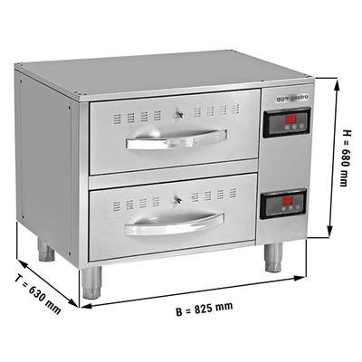Wärmeschrank mit 2 Schubladen - 0,82 m - GN 1/1