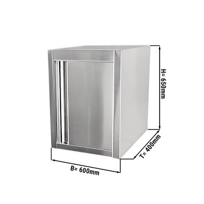 Wall cabinet 0,6 m - with swing door 0,65 m height