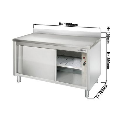 Wärmeschrank ECO - 1,8 m - mit Aufkantung