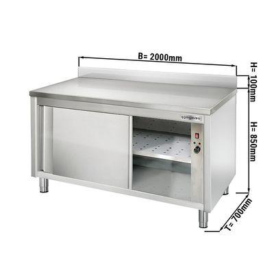 Wärmeschrank ECO - 2,0 m - mit Aufkantung