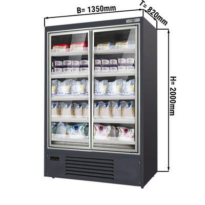 Wandtiefkühlregal - 1,35 m - 831 Liter - mit 4 Regalböden