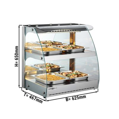 Warming cabinet with 1 shelf - stainless steel
