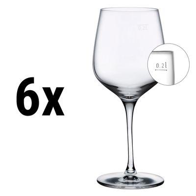 (6 Stück) NUDE - Weißweinglas - 320 cc - geeicht bei 0,2 Liter