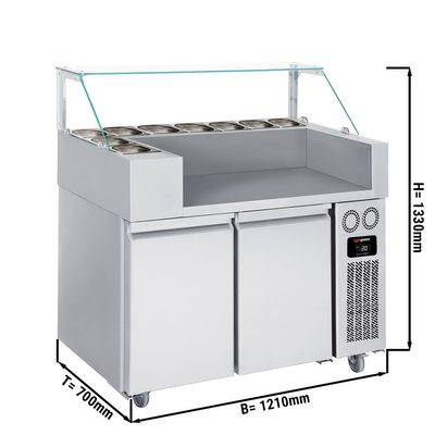 Refrigerated Preparation Unit - 1,21 x 0,7 m - with 2 doors