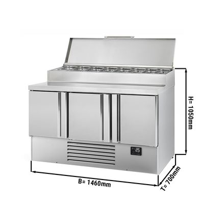 Refrigerated preparation table (GN) - with 3 doors