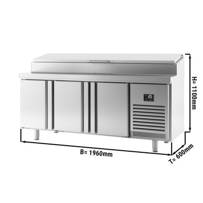 Refrigerated preparation table - with 3 doors