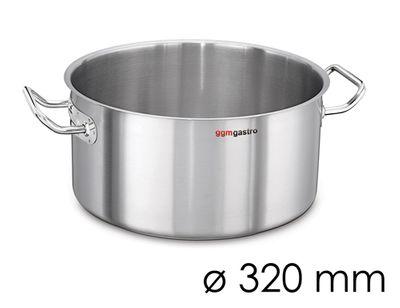 Bratentopf - Ø 320 mm - Höhe: 150 mm | Gartopf | Kochtopf | Edelstahltopf | Fleischtopf