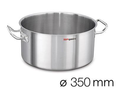 Bratentopf - Ø 350 mm - Höhe: 160 mm | Gartopf | Kochtopf | Edelstahltopf | Fleischtopf