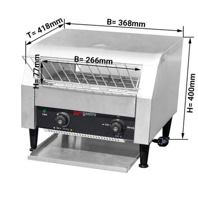 Industrial Conveyor toaster 2,3 kW