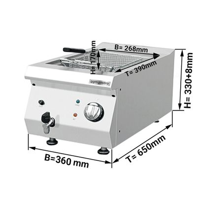 Fryer 11,5 liters / with drain cock