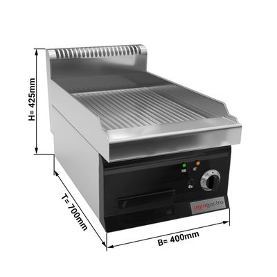 Electric griddle - grooved (4 kW)