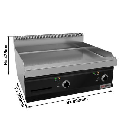 Electric griddle - smooth (8 kW)