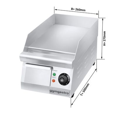 Electric griddle - Smooth (1,5 kW)