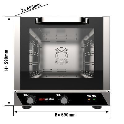 Electric convection oven without steam function - 4x trays