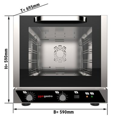 Electric convection oven with steam function - 4x trays