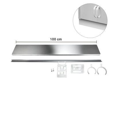 Edelstahlsockel - Länge: 100 cm