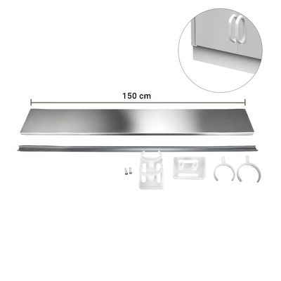 Edelstahlsockel - Länge: 150 cm