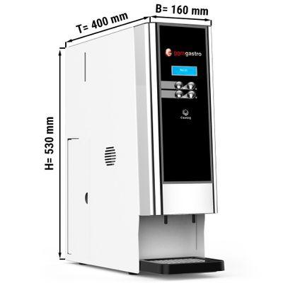 Heißgetränkeautomat / Kaffeeautomat - weiß - mit 2 Pulverbehältern