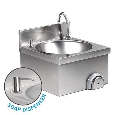 Handwaschbecken - mit Mischbatterie (Kalt- & Warmwasseranschluss) & Seifenspender
