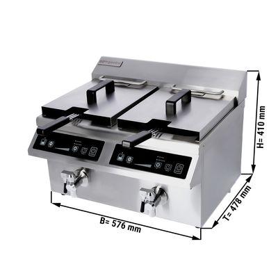 Induction deep fat fryers - 8 + 8 litres