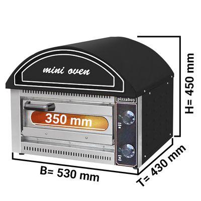 Pizza oven 1x 34 cm – black
