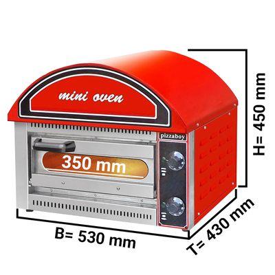 Mini-Pizzaofen - 1x 34 cm - Rot