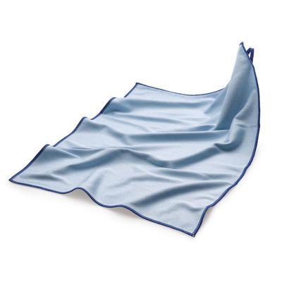 (10 Stück) Mikrofasertuch Polier-/ Geschirrtuch blau - 50 x 70 cm
