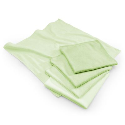 Microfibre cloth green - 40 x 40 cm - set of 10