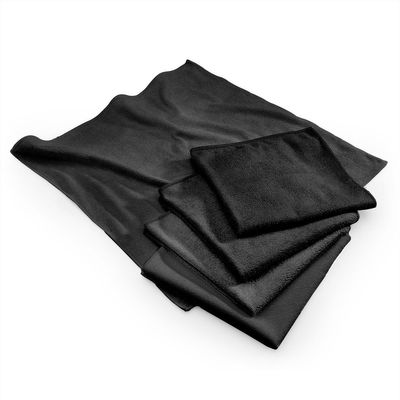 Microfibre cloth black - 40 x 40 cm - set of 10