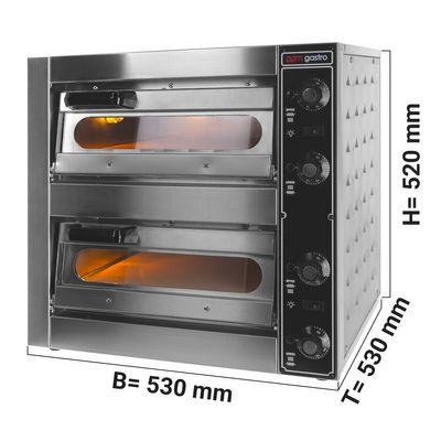 Pizza oven 1 + 1x 33,5 cm