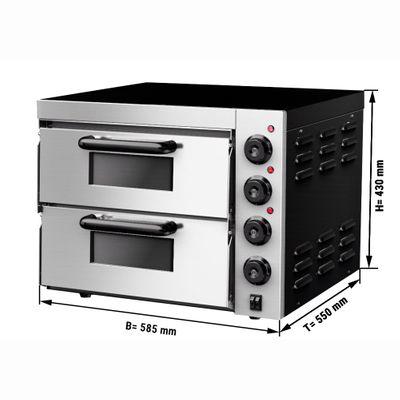 Pizza oven - 4+4x 20 cm