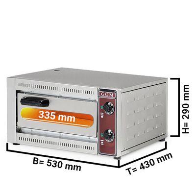 Pizza oven 1x 33,5 cm