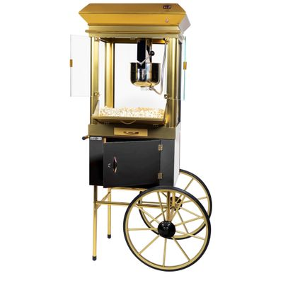 Popcorn trolley - capacity: 250 gr - incl. maize bucket & lighting
