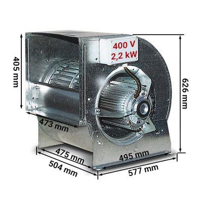 Radialventilator 10000m³ pro Std. - rpm 900 - für Airboxen