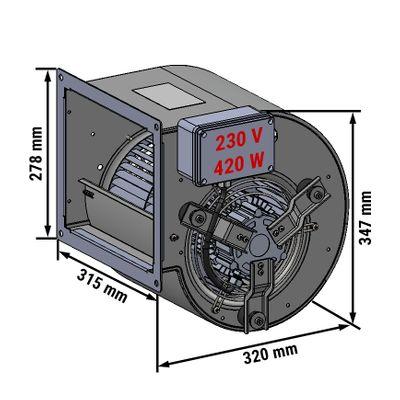 Radialventilator 2200 m³ pro Std. - für Wandhauben